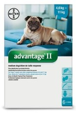 Advantage II medium dog 4.6 - 11 kg Flea Treatment