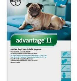 Bayer Advantage II medium dog 4.6 - 11 kg Flea Treatment