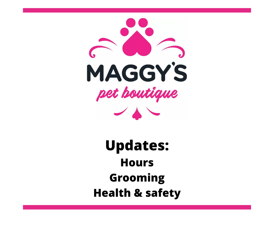 Covid 19 -News at Maggy's Pet Boutique