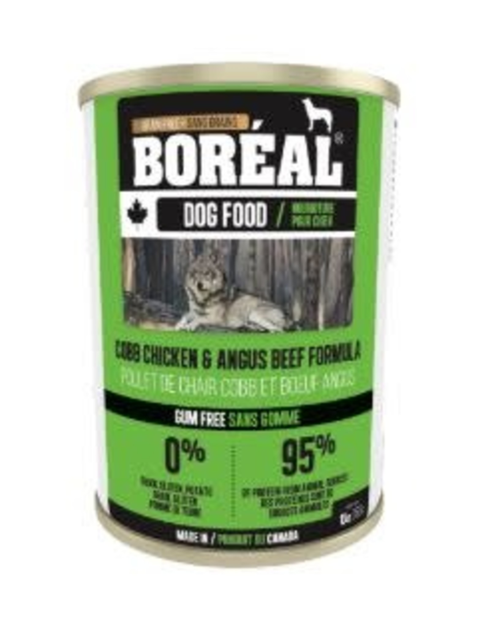 boreal Boreal Canadian Cobb Chicken And Angus Beef dog can 396g