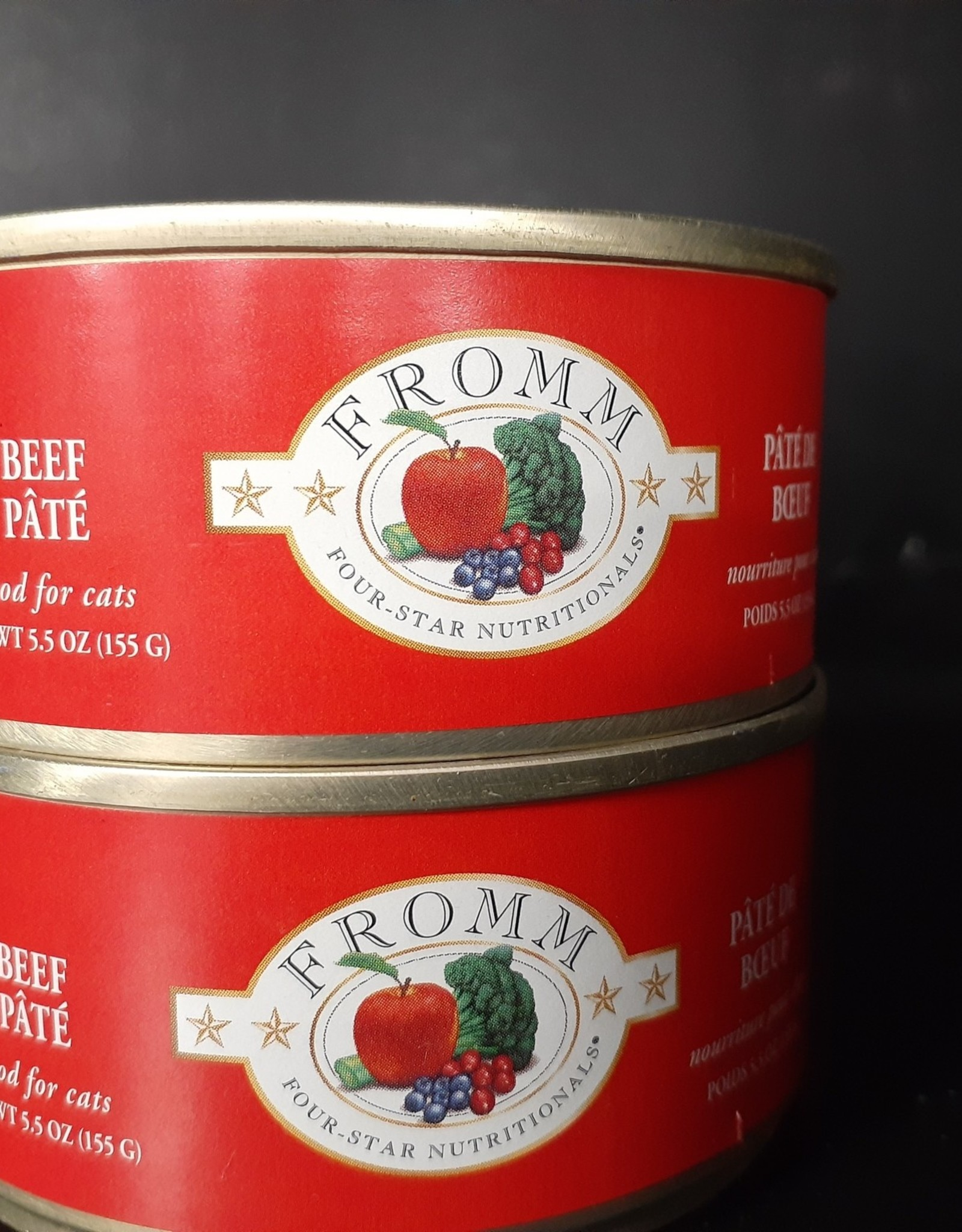 Fromm- Four Star Fromm Beef Pate cat 5.5oz