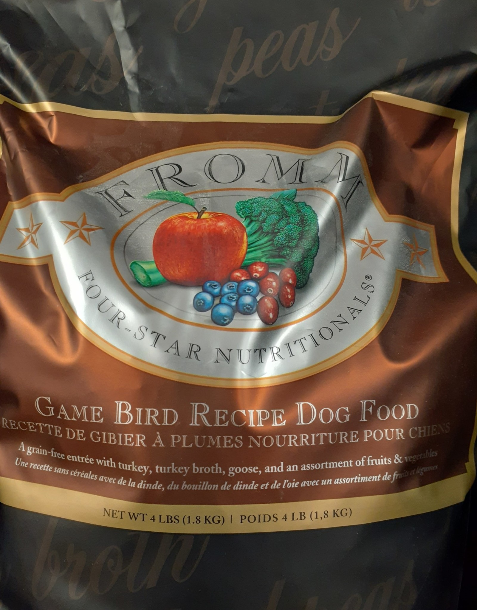 Fromm- Four Star fromm gamebird dog 1.8kg