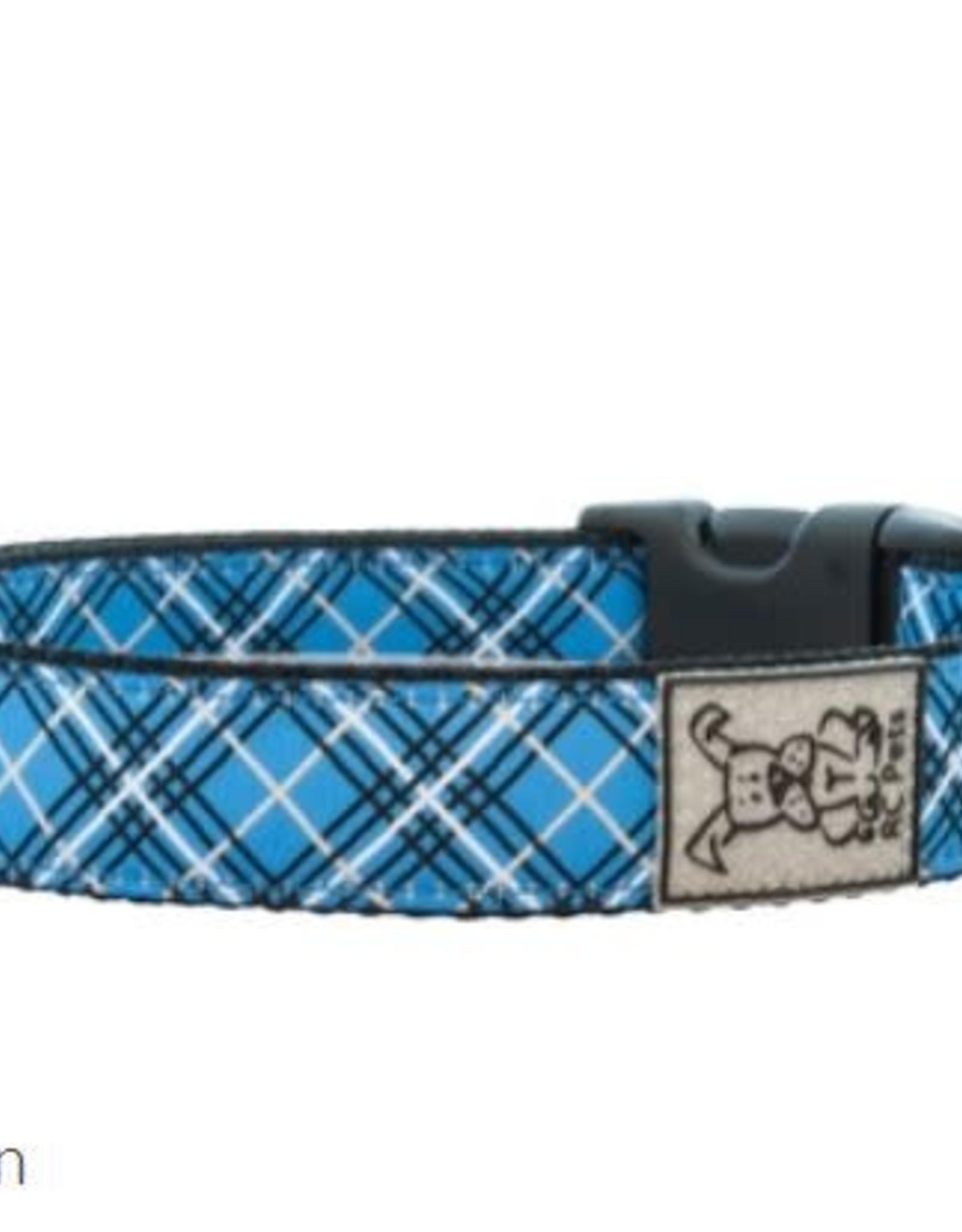 RC Pets RC Clip Collar L 1 Blue Tartan