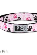 "RC Pets RC clip collar 1"" medium  pitter patter pink"