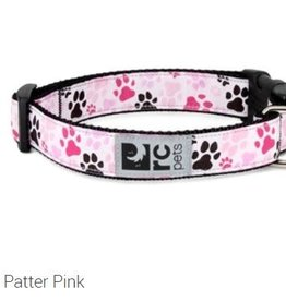"RC Pets RC clip collar 1"" medium  pitter patter pink"
