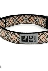 "RC Pets RC clip collar 1"" medium tan tartan"