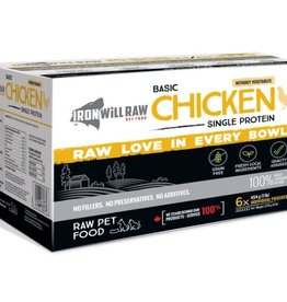 Iron Will Raw Iron Will Basic Chicken-  6lb box