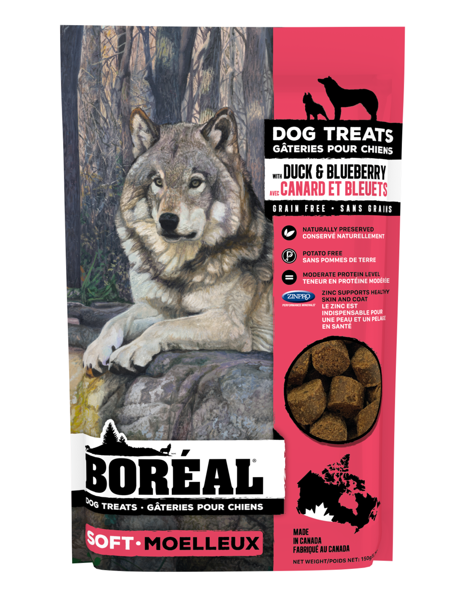 Boreal Boreal Dog Treats Duck and Blueberry 150g