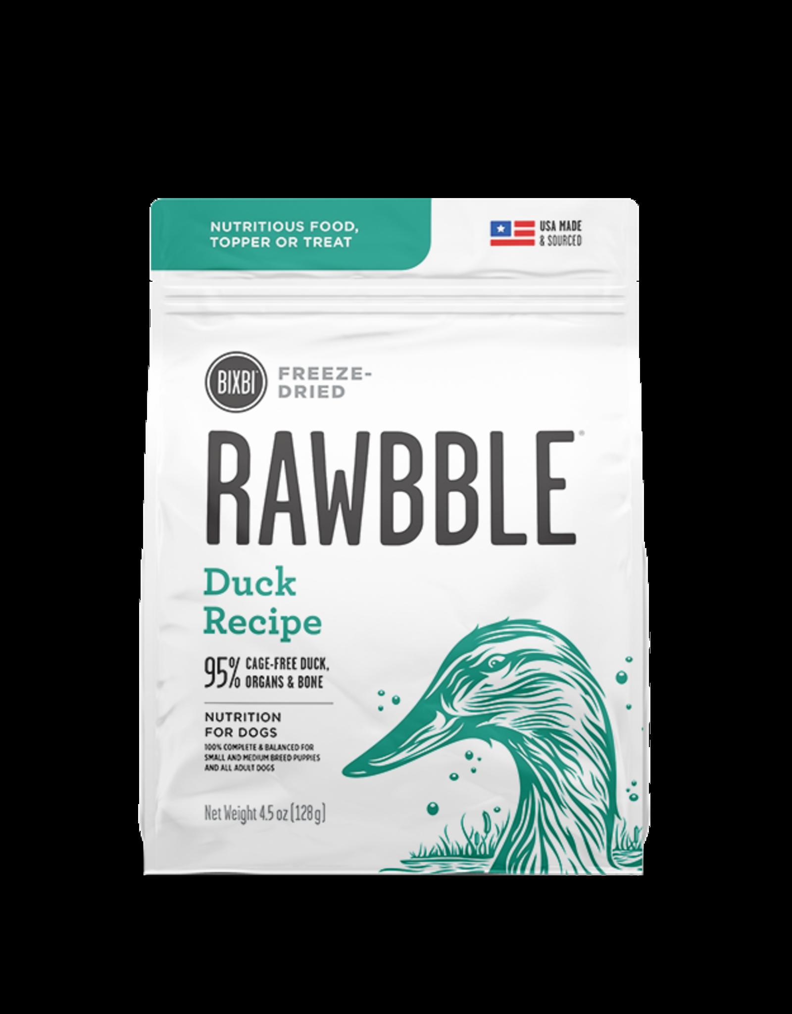 Bixbi Pet RAWBBLE Duck Recipe - 4.5oz