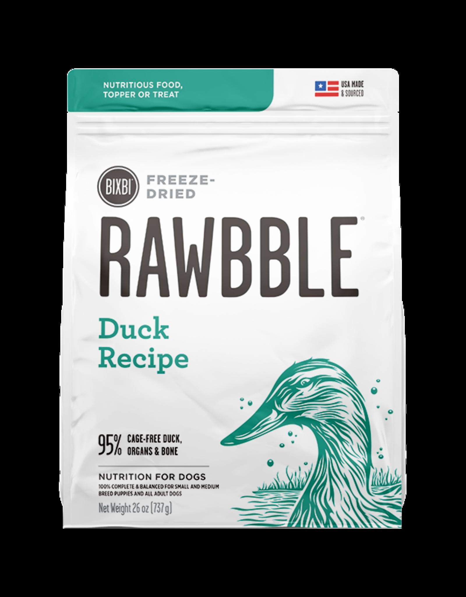 Bixbi Pet RAWBBLE Duck Recipe - 26oz