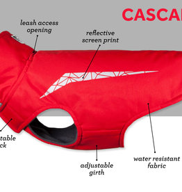 RC Pets Cascade Coat Size 22 Red