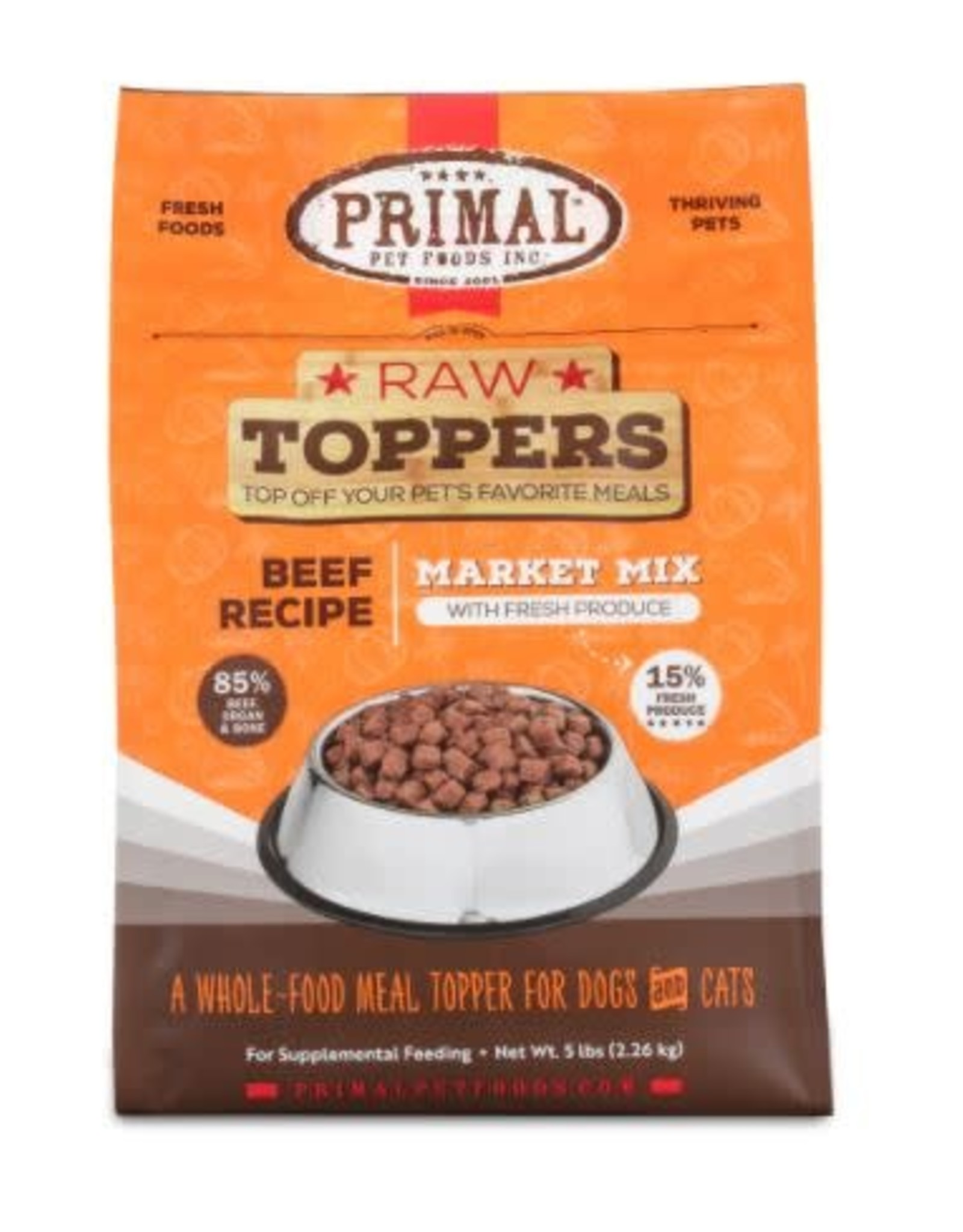 Primal Pet Foods PRIMAL Beef Market Mix Topper 5lb