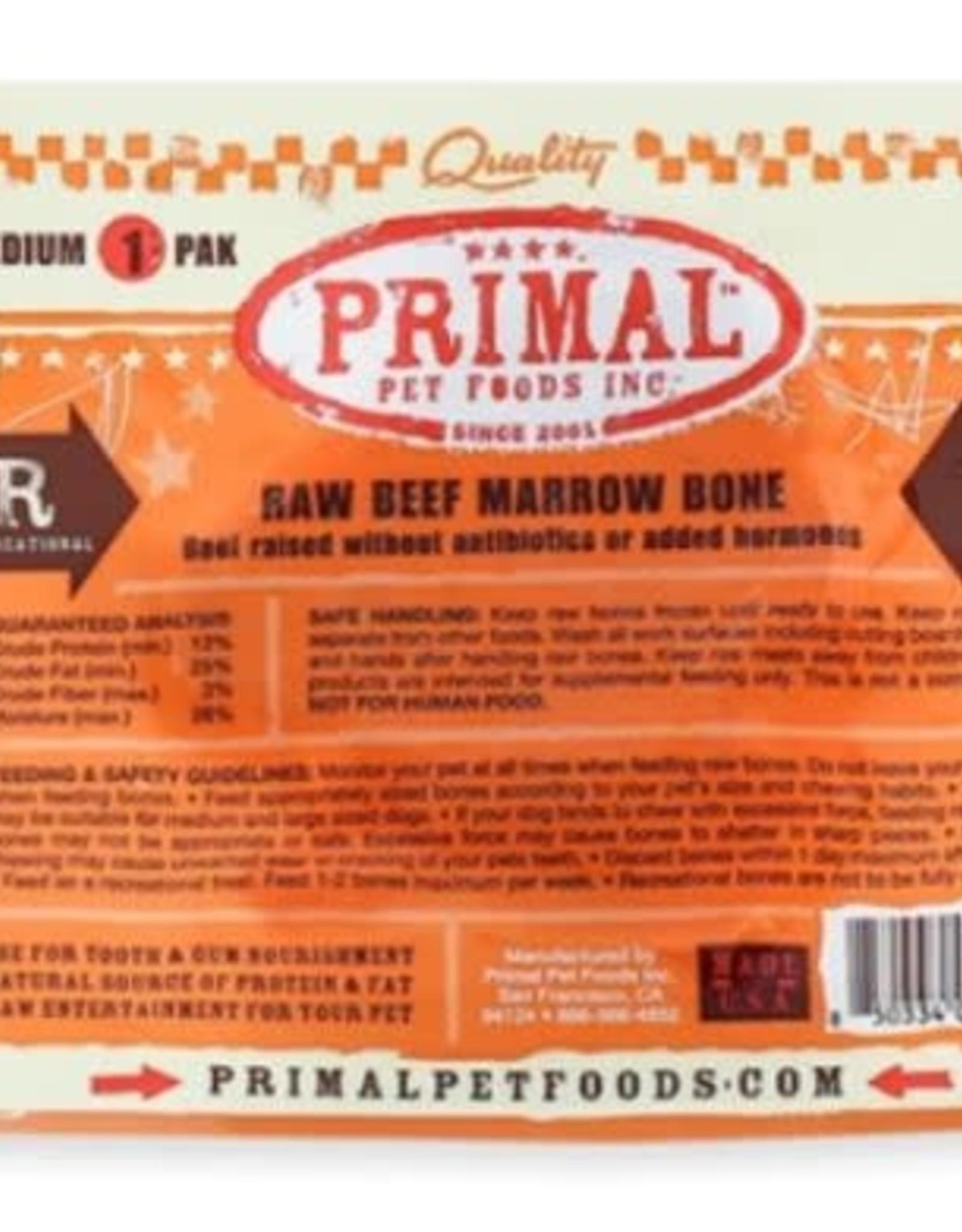 Primal Pet Foods Primal Frozen Beef Bone Medium 0.6lb