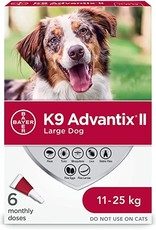 Bayer K9 Advantix II L Dog 4ds 2.5ml (11-25kg)