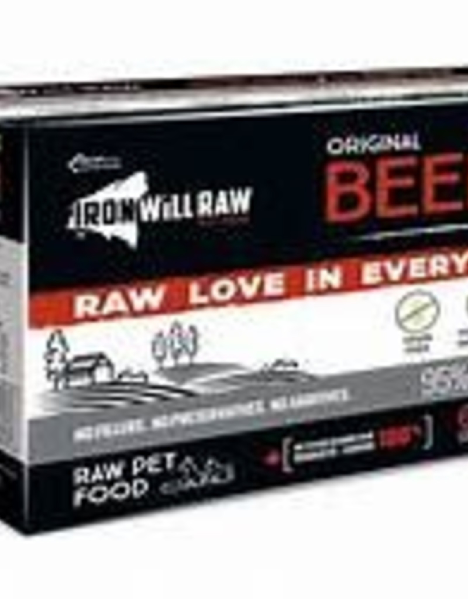 Iron Will Raw Iron Will Original Beef - 6lb box