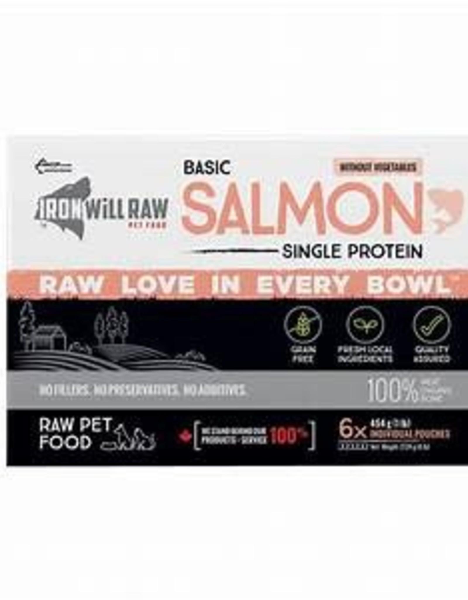 Iron Will Raw Iron Will Raw Basic Salmon Box 6lbs