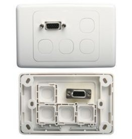 Wes Wall Plate VGA + 4 blank insert