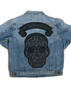 CULT OF INDIVIDUALITY SKULL PATCH DENIM JACKET