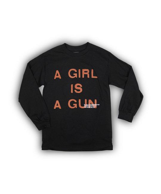PLEASURES PLEASURES GIRL IS A GUN LONG SLEEVE SHIRT