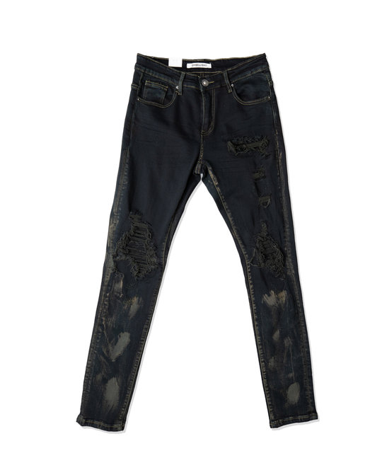 EMBELLISH ROLEY RIP AND REPAIR JEANS