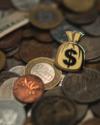 HDQTRS NYC MONEY BAG HAT PIN