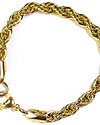GOLDEN GILT ROPE BRACELET