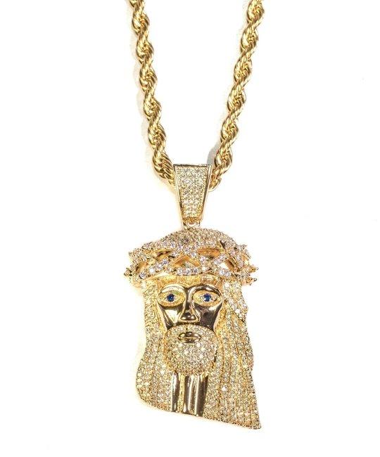 GOLDEN GILT XL JESUS W/ ROPE CHAIN