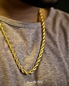 GOLDEN GILT ROPE NECKLACE