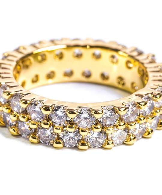 GOLDEN GILT ETERNITY RING