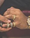 GOLDEN GILT TRIPLE ROW ETERNITY RING