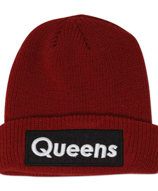 ALL THE RIGHT ALL THE RIGHT QUEENS BEANIE RED OS