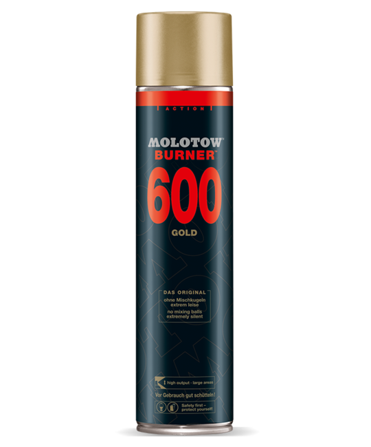 MOLOTOW BURNER 600ML SPRAYPAINT Burner Gold OS