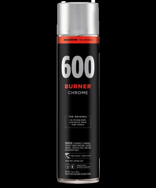 MOLOTOW BURNER 600ML SPRAYPAINT Burner Chrome