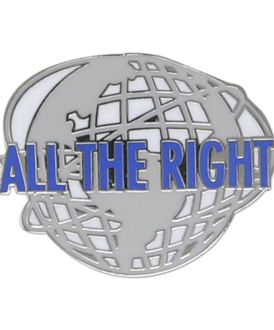 HDQTRS NYC ALL THE RIGHT WORLD HATS PIN