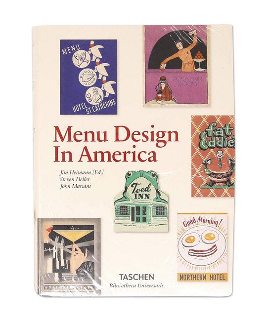 TASHEN MENU DESIGN IN AMERICA