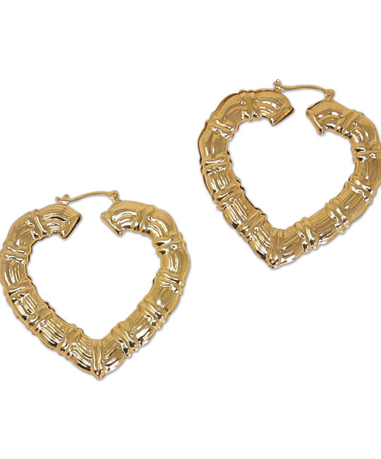 DZ DESIGNS DZ DESIGNS DOOR KNOCKER HEART HOOPS