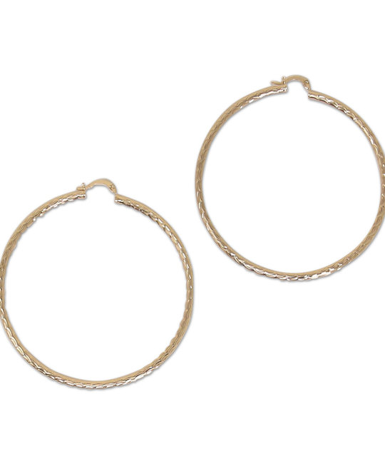 DZ DESIGNS DZ DESIGNS LARGE WAVE CUT HOOPS