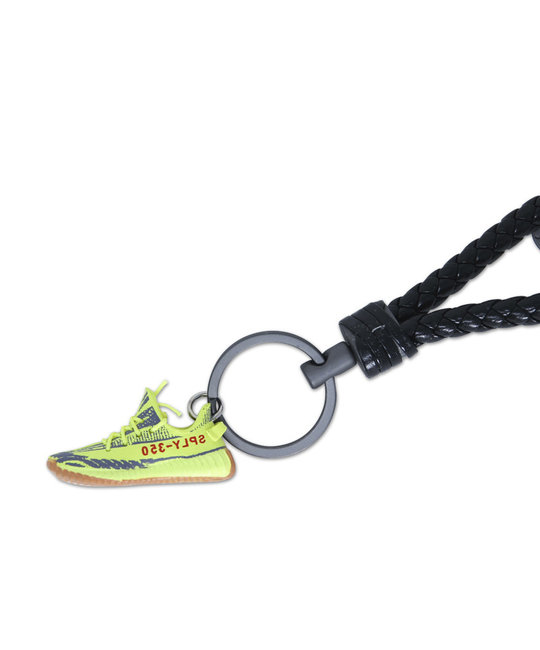 "Handcrafted YZY ""Semi Frozen Yellow"" 3D Sneaker Keychain with Box/Bag"