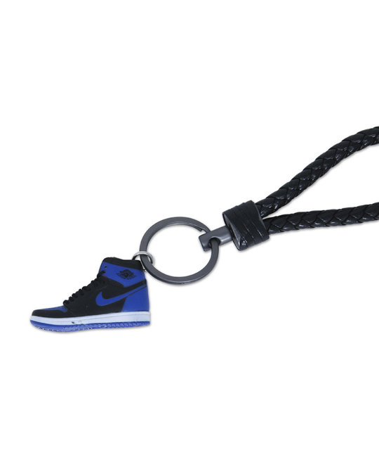 "Handcrafted AJ1 ""Royal"" 3D Sneaker Keychain with Box/Bag"
