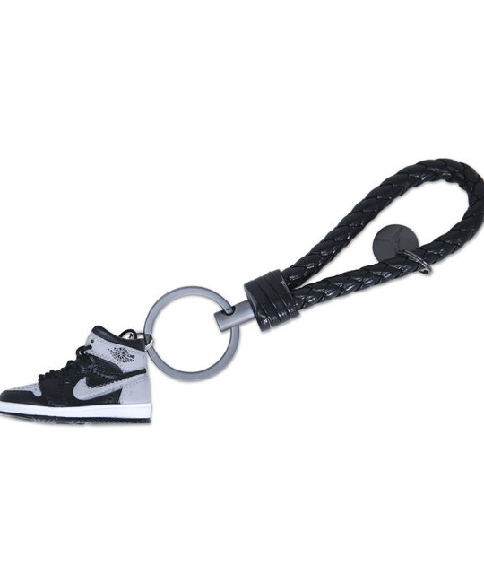 """Handcrafted AJ1 """"Shadow"""" 3D Sneaker Keychain with Box/Bag"""