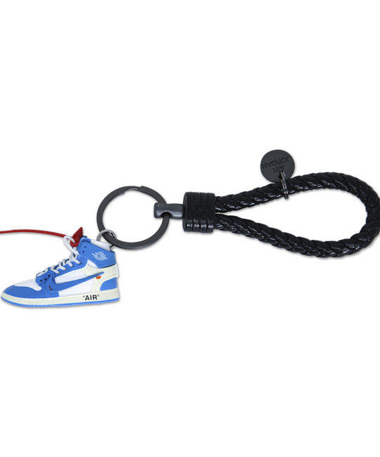 "Handcrafted AJ1 ""Offwhite AJ1 UNC"" 3D Sneaker Keychain with Box/Bag"