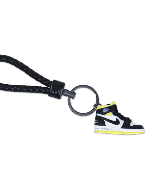 "Handcrafted AJ1 ""Not for Resale Varsity Maize"" 3D Sneaker Keychain"
