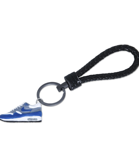 "Handcrafted Air Max 1 ""Anniversary Blue"" 3D Sneaker Keychain with Box and Bag"
