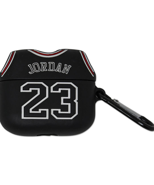 Michael Jordan Inspired Silicon Airpods PRO Case With Hook - Black