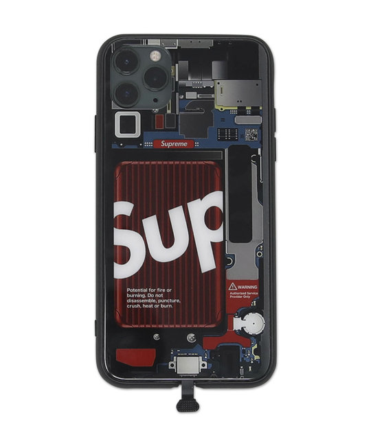 Smart Lit LED Hypebeast iPhone Case Follow by Beats - Supreme