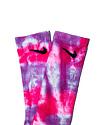 TYE DYE SOCKS - Hot Pink Lilac Multi