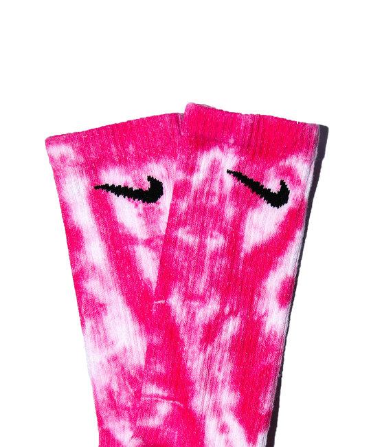 TYE DYE SOCKS - Hot Pink Multi