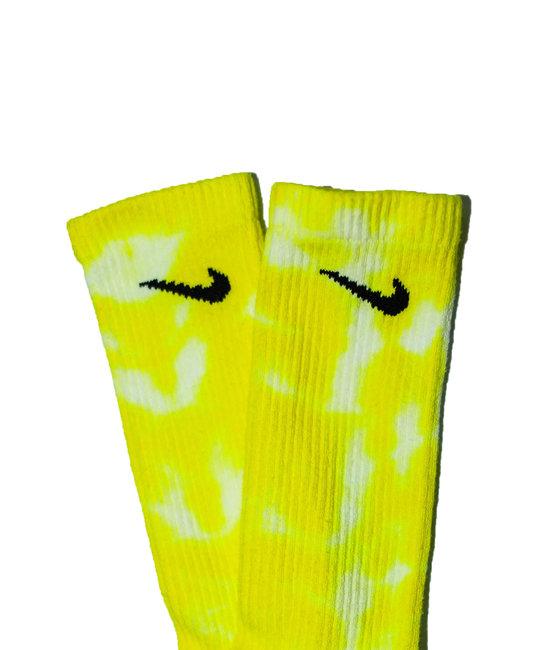 TYE DYE SOCKS - Lemon Yellow Multi
