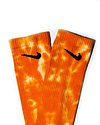 TYE DYE SOCKS - Soft Orange Multi