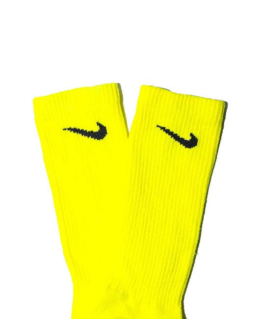 TYE DYE SOCKS - Bright Yellow Full